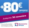 Banque en ligne Boursorama:bonus de 80 euros